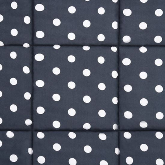 shumee Zimska prešita odeja komplet blago temno modra 200x200/80x80 cm