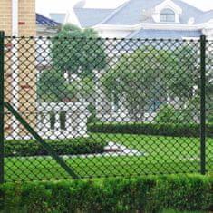 shumee Siatka ze słupkami, stal, 1,25x15 m, zielona