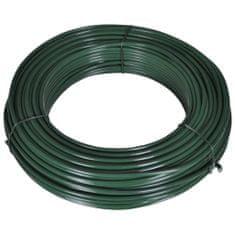 shumee Vezna žica za ograjo 80 m 2,1/3,1 mm jeklo zelena