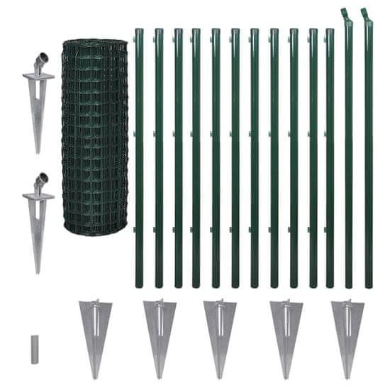 shumee Euro Fence zöld acélkerítés 25 x 1,2 m
