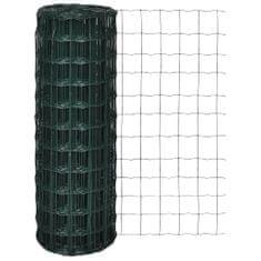 shumee Evro ograja iz jekla 10 x 1,0 m zelena