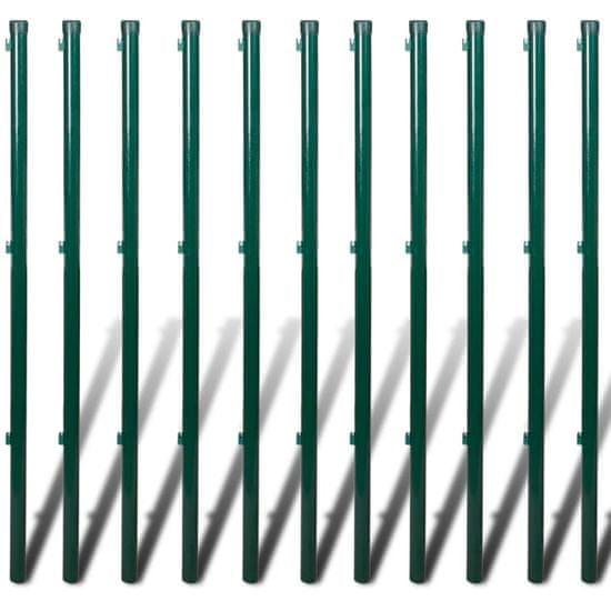 Greatstore Drôtené pletivo so stĺpikmi a hrotmi, oceľ 0,8x25 m