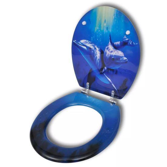 slomart MDF wc deska trdo zapiranje spektakularen dizajn delfinov