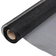 shumee Sieť proti hmyzu, sklené vlákno 100x1000 cm, čierna