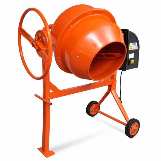 shumee Kovinski mešalec betona oranžne barve za 140 L in 650 W