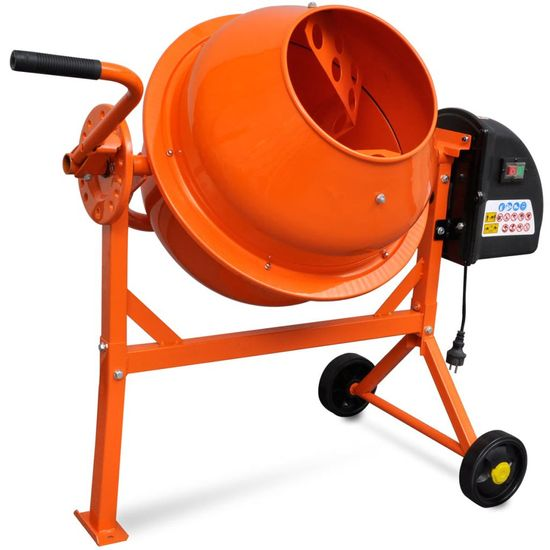 shumee Mešalec za beton 63 L 220 W oranžno jeklo