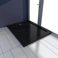 shumee Pravokotna ABS tuš kad črna 70x90 cm