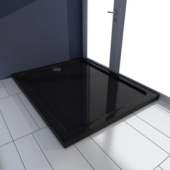 shumee Brodzik prysznicowy prostokątny, ABS, czarny, 80 x 100 cm