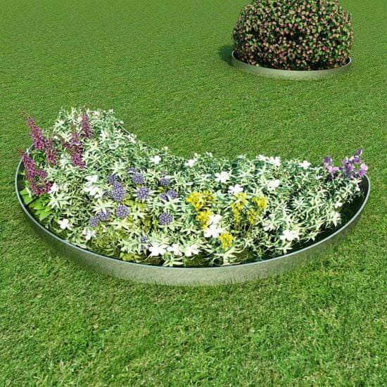 shumee Zestaw 5 elastycznych obrzeży ogrodowych, stal, 100 x 15 cm