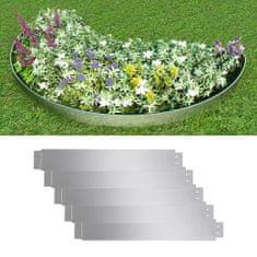 shumee Set 5 kosov ograde iz fleksibilnega pocinkanega jekla 100 x 15 cm