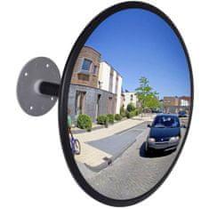 shumee Konveksno notranje prometno ogledalo akrilno črno 30cm