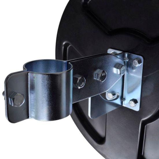 shumee Konvexné dopravné zrkadlo, PC plast, čierne 30 cm, do exteriéru