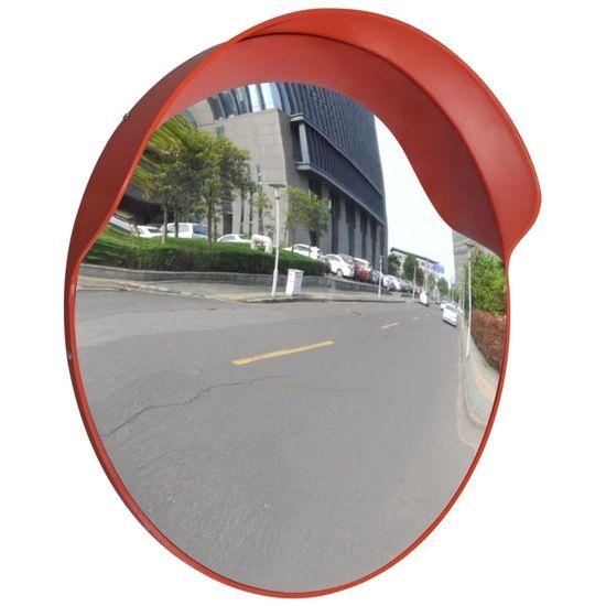 Greatstore Dopravní vypouklé zrcadlo PC plast oranžové 60 cm venkovní