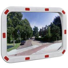 Greatstore Dopravní vypouklé zrcadlo obdélníkové 40 x 60 cm s odrazkami
