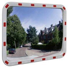 Greatstore Dopravní vypouklé zrcadlo obdélníkové 60 x 80 cm s odrazkami