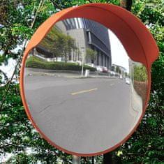shumee Konveksno prometno ogleddalo iz PC plastike oranžno 45 cm zunanje