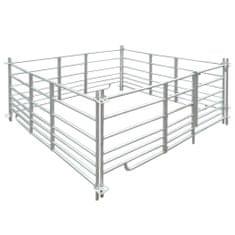 shumee Ohrada pro ovce 183 x 183 x 92 cm, 4 panely z pozinkované oceli