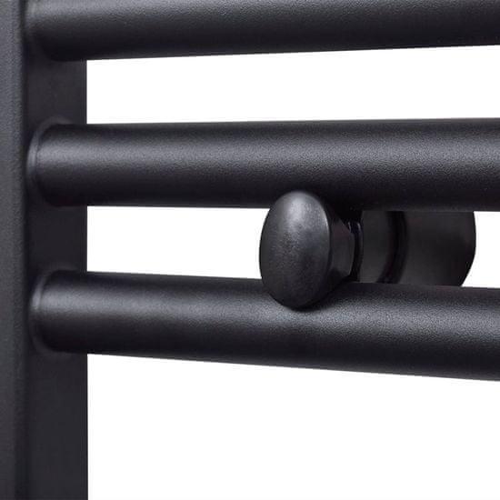shumee Egyenes fekete törölközőszárító radiátor központi fűtéssel 500x1160 mm