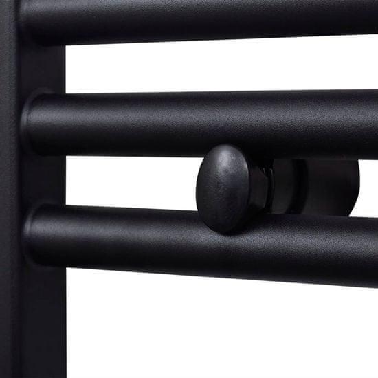 shumee Grzejnik łazienkowy, prosty 500 x 1424 mm, czarny
