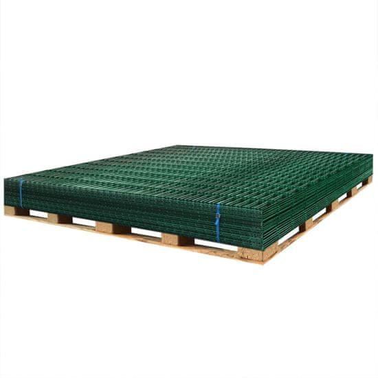 shumee Panele ogrodzeniowe 2D, 2,008 x 1,63 m, 22 m, zielone