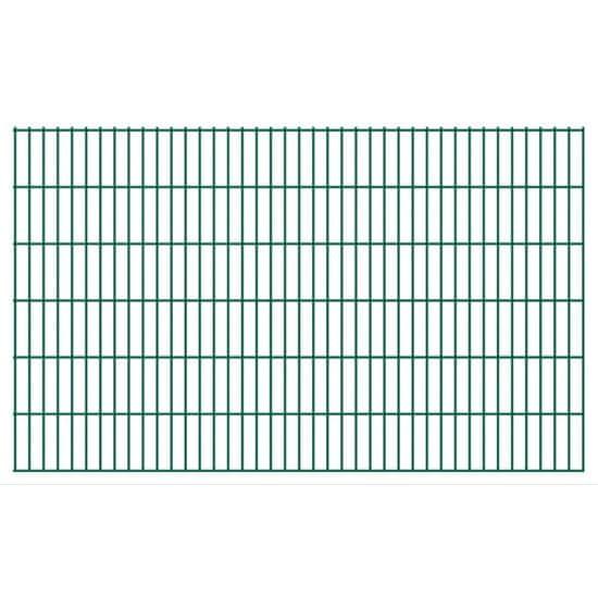 shumee Panele ogrodzeniowe 2D, 2,008 x 1,23 m, 22 m, zielone