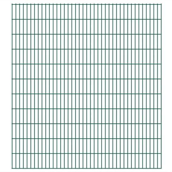shumee Panele ogrodzeniowe 2D, 2,008 x 2,23 m, 32 m, zielone