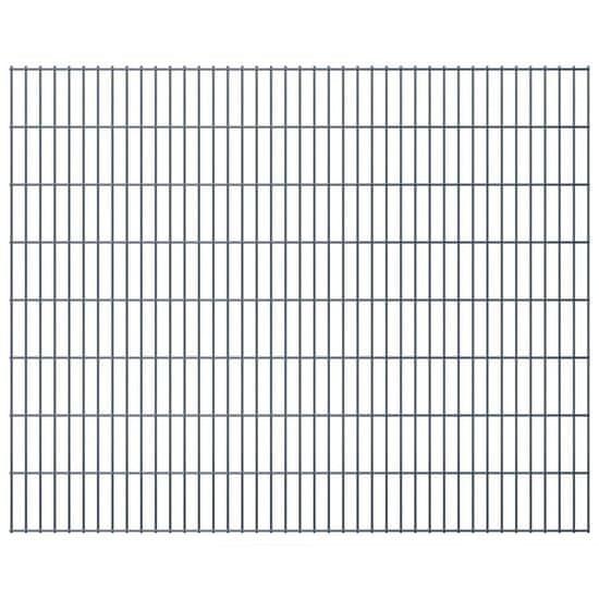 shumee Panele ogrodzeniowe 2D, 2,008 x 1,63 m, 4 m, szare