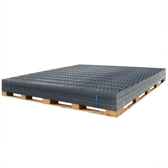 shumee Panele ogrodzeniowe 2D, 2,008 x 1,63 m, 36 m, szare