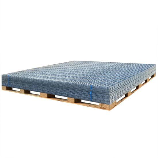 shumee Panele ogrodzeniowe 2D, 2,008 x 0,83 m, 48 m, srebrne