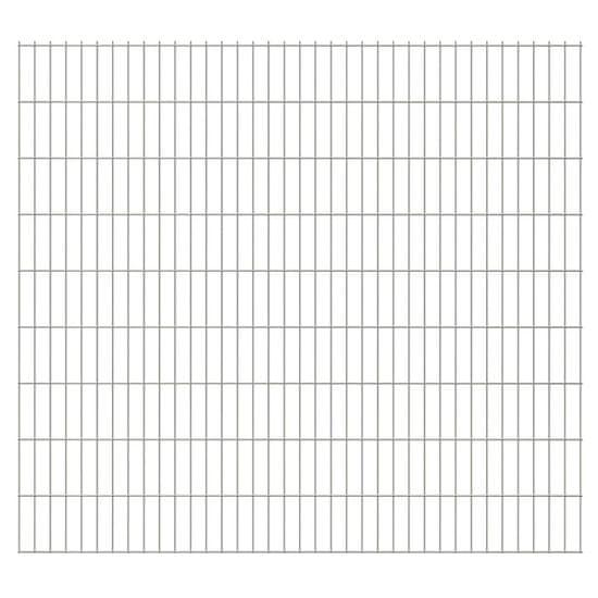 shumee Panele ogrodzeniowe 2D, 2,008 x 1,83 m, 22 m, srebrne