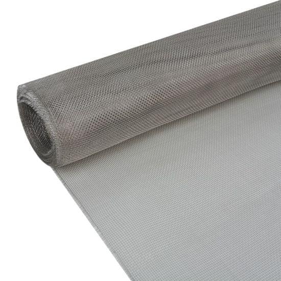 shumee Mreža iz nerjavečega jekla 100x500 cm srebrna