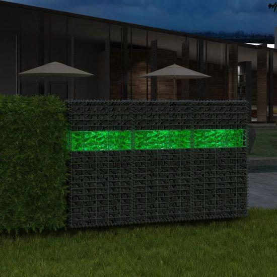 shumee Okrasni kamni za gabion steklo zelene barve 50-120 mm 25 kg