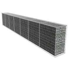 Vidaxl Gabionová zeď s víkem pozinkovaná ocel 600 x 50 x 100 cm