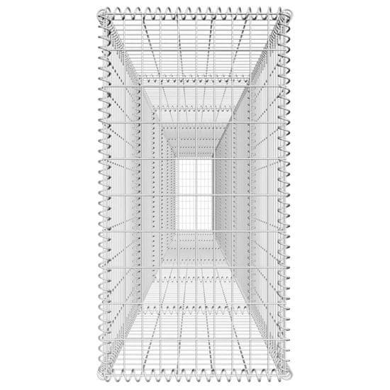 shumee Ściana gabionowa z pokrywą, galwanizowana stal, 600x50x100 cm