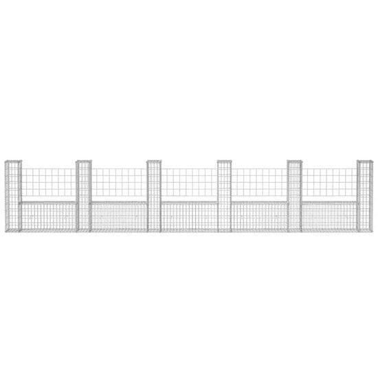 shumee Kosz gabionowy w kształcie litery U, stal, 570x20x100 cm