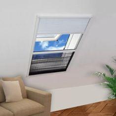 shumee Plisowana moskitiera okienna z roletą, aluminium, 60x80 cm
