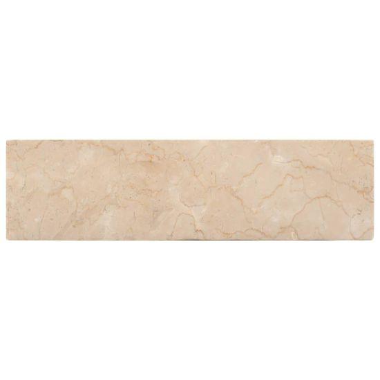shumee Umywalka, 45 x 30 x 12 cm, marmurowa, kremowa