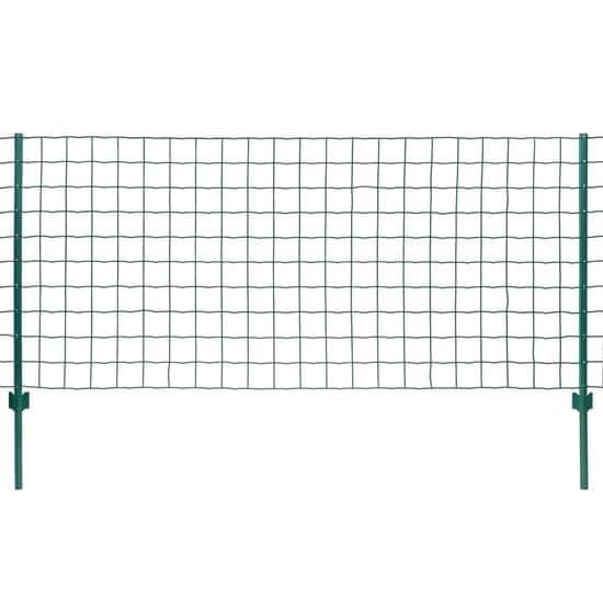 shumee Evro ograja iz jekla 20x0,8 m zelena