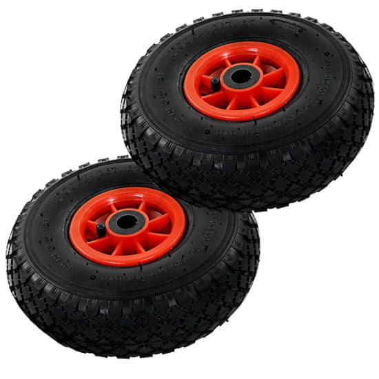 shumee Kolesa za ročni voziček 2 kosa guma 3,00-4 (260x85)
