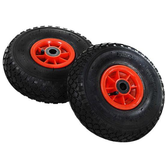 shumee Kolesa za ročni voziček 4 kosi guma 3,00-4 (260x85)