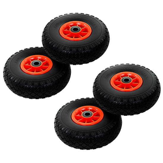shumee Kolesa za ročni voziček 4 kosi trden PU 3,00-4 (260x85)