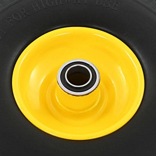 shumee Kolesa za ročni voziček 2 kosa trden PU 3,00-4 (260x85)
