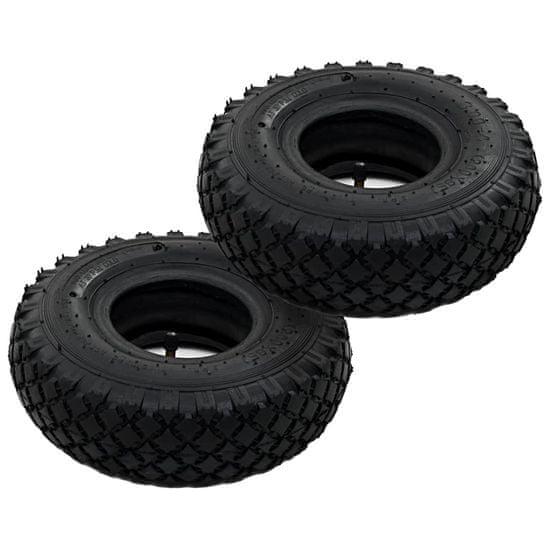 shumee 2 opony i 2 dętki do wózka transportowego, 3.00-4, 260x85, guma