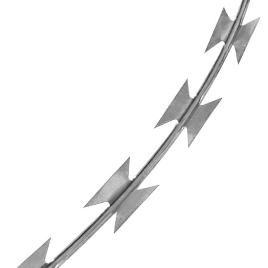 shumee Bodeča žica v obliki harmonike NATO pocinkano jeklo 300 m