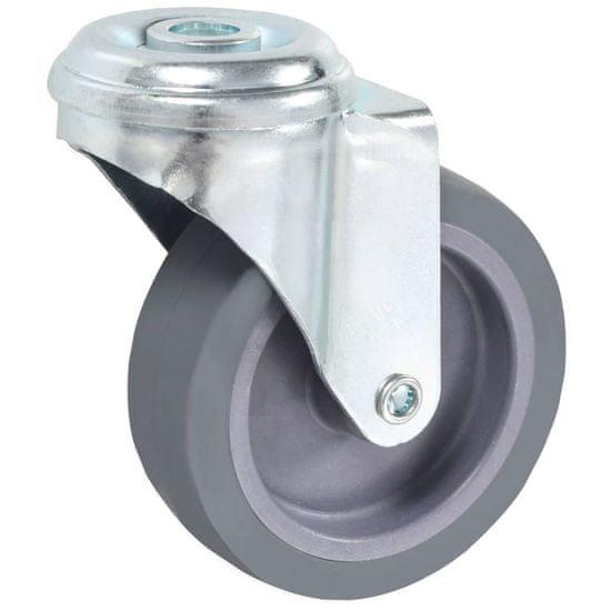 shumee Otočné kolieska s otvorom na skrutku 12 ks, 75 mm