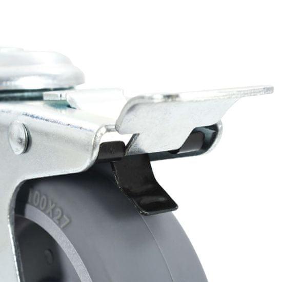 shumee Kółka skrętne z otworem na śrubę, 4 szt., 100 mm