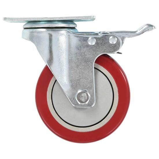 shumee Kółka skrętne z podwójnymi hamulcami, 4 szt., 100 mm