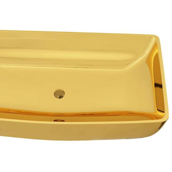 shumee Umywalka, 71 x 38 x 13,5 cm, ceramiczna, złota