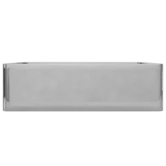shumee ezüstszínű kerámia mosdókagyló 41 x 30 x 12 cm