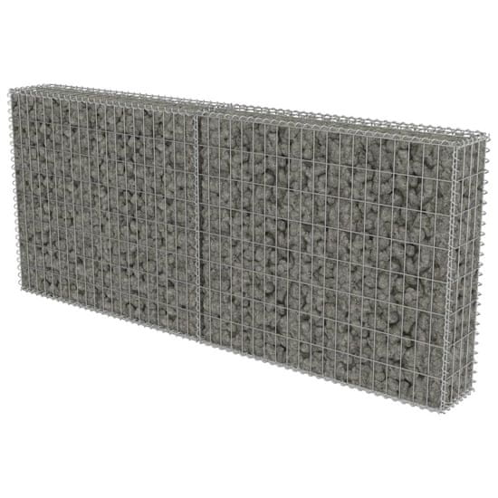 shumee Ściana gabionowa z pokrywami, galwanizowana stal, 200x20x85 cm